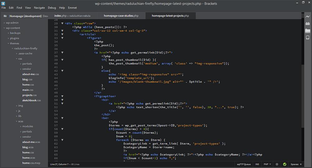 Brackets vs  Sublime Text: a designer's text editor