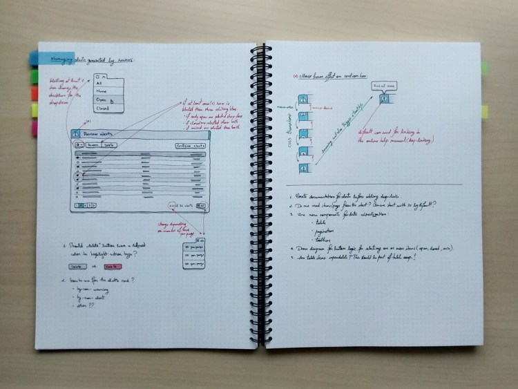 Sketching new components & interactions