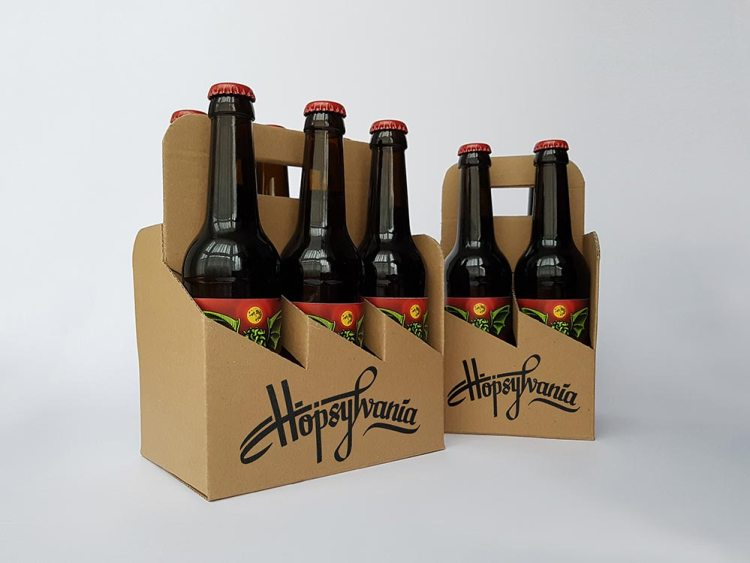 Hand made and lettered 6-pack and 4-pack