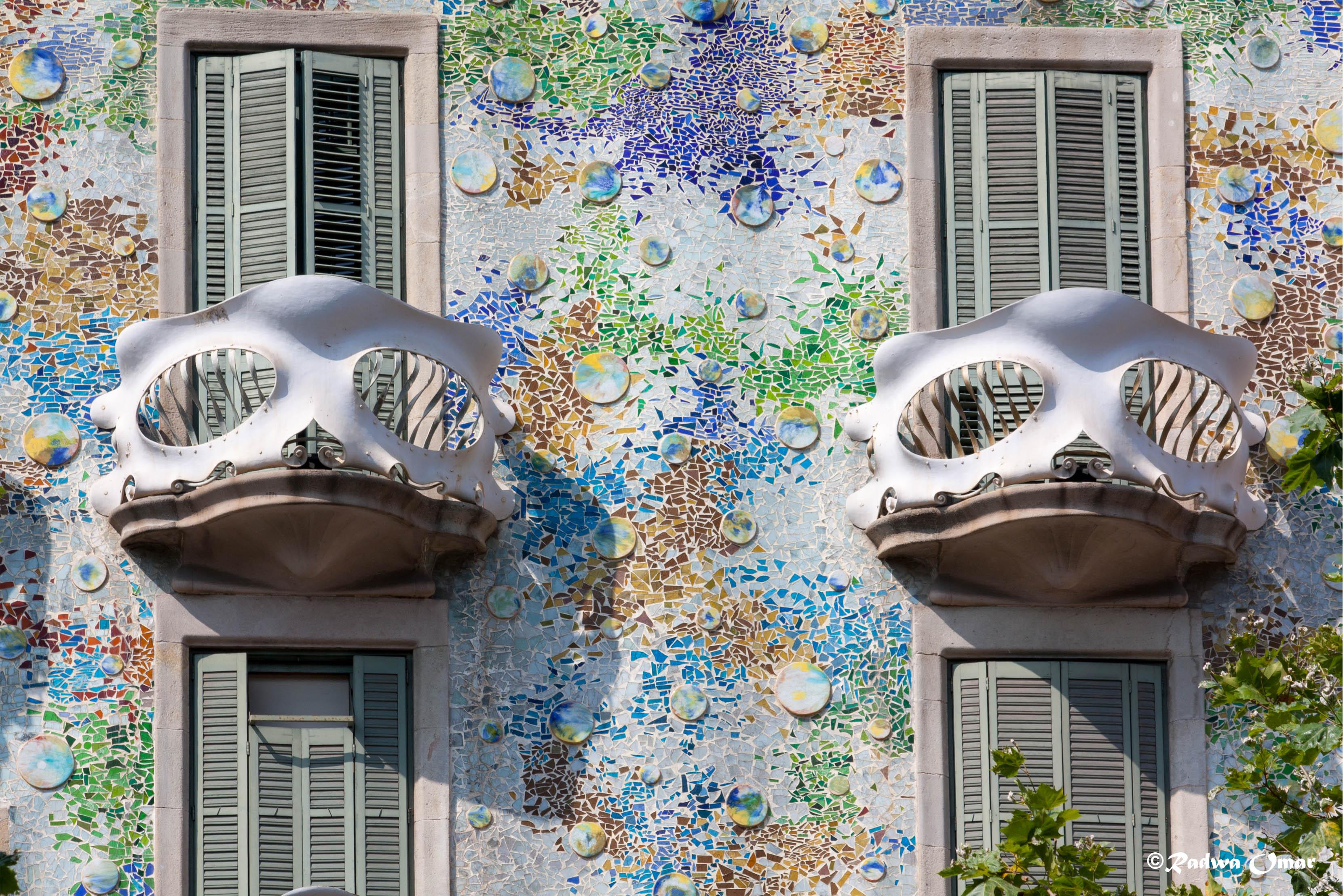 Antonio Gaudis Work  Casa Batllo  Barcelona  Spain