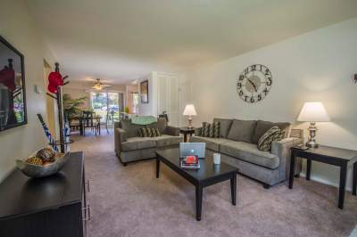Furnished living room in Bryn Mawr apartments