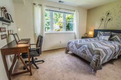 Large second bedroom can be used as a study