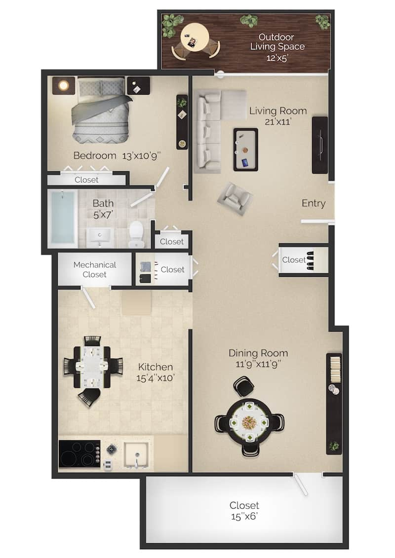 One Bedroom Apartment Bryn Mawr PA