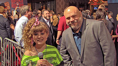 Piper Reese 12-1029 Wreck-It Ralph Premiere-Piper interviewing Kevin Chamberlin