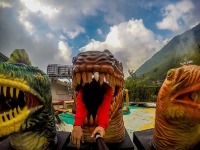 being silly at Dinosaur Island, Baguio