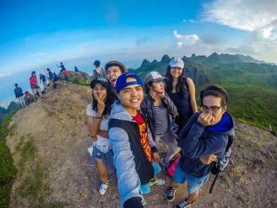 me and my college friends at the top of Osmena Peak
