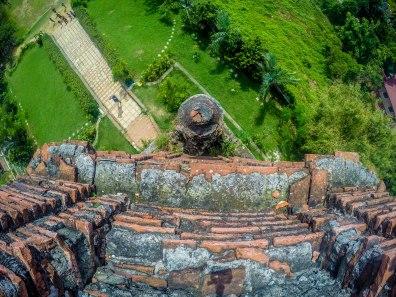 view at the top of Bantay Bell Tower, Bantay, Ilocos Sur