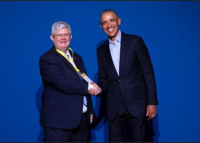 Dr. José Ramón Calvo y Barack Obama