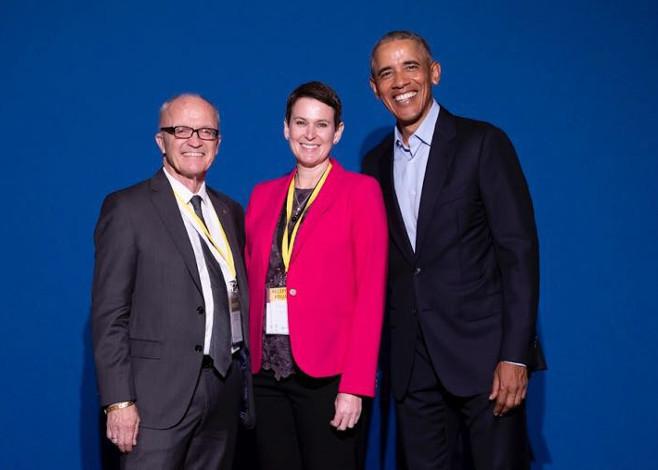 Dr. Finn Kydland y Barack Obama