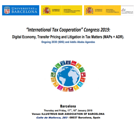 "Congreso internacional ""Tax Cooperation 2019"""