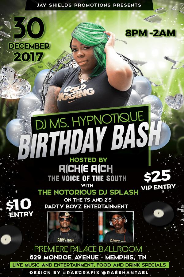 DJ MsHypnotique - Party Flyer A