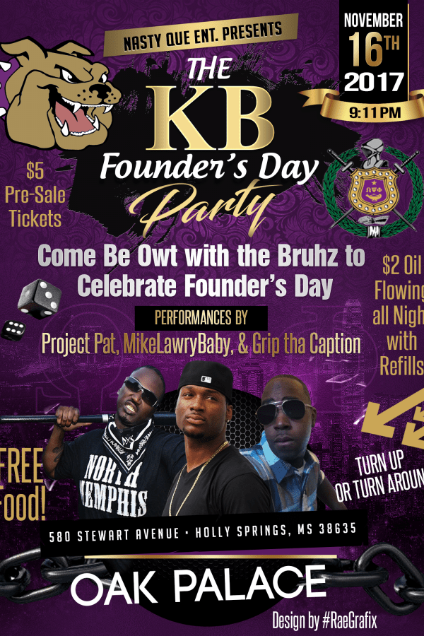 Founder's Day Party Flyer
