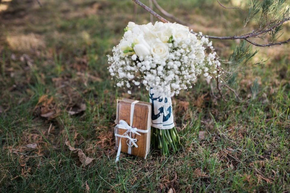 Bride's bouquet and family heirloom bible