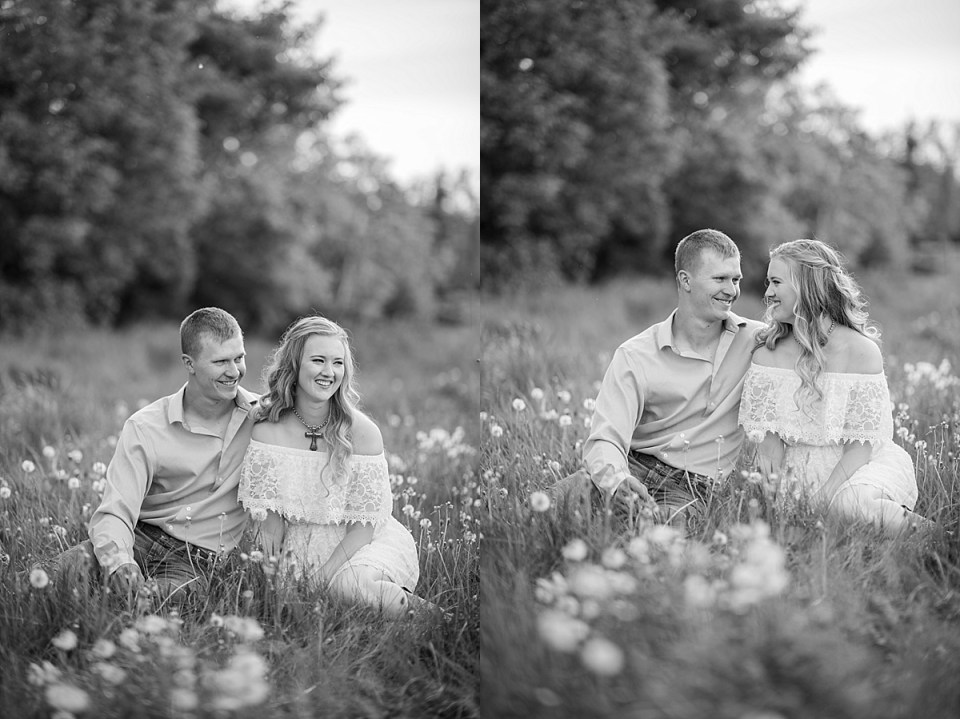 Rustic Farm Engagement Photos near Camrose, Alberta | Engagement photos with cows | Raelene Schulmeister Photography | Red Deer wedding photographers | Dairy barn photo session