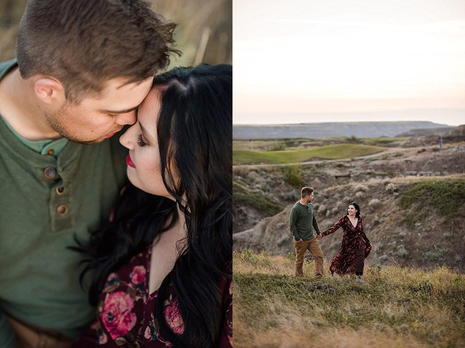 Badlands Engagement Photos | Fall Engagement Photos | Jennifer and Steven | Edmonton wedding photographers | Unposed candid engagement photos