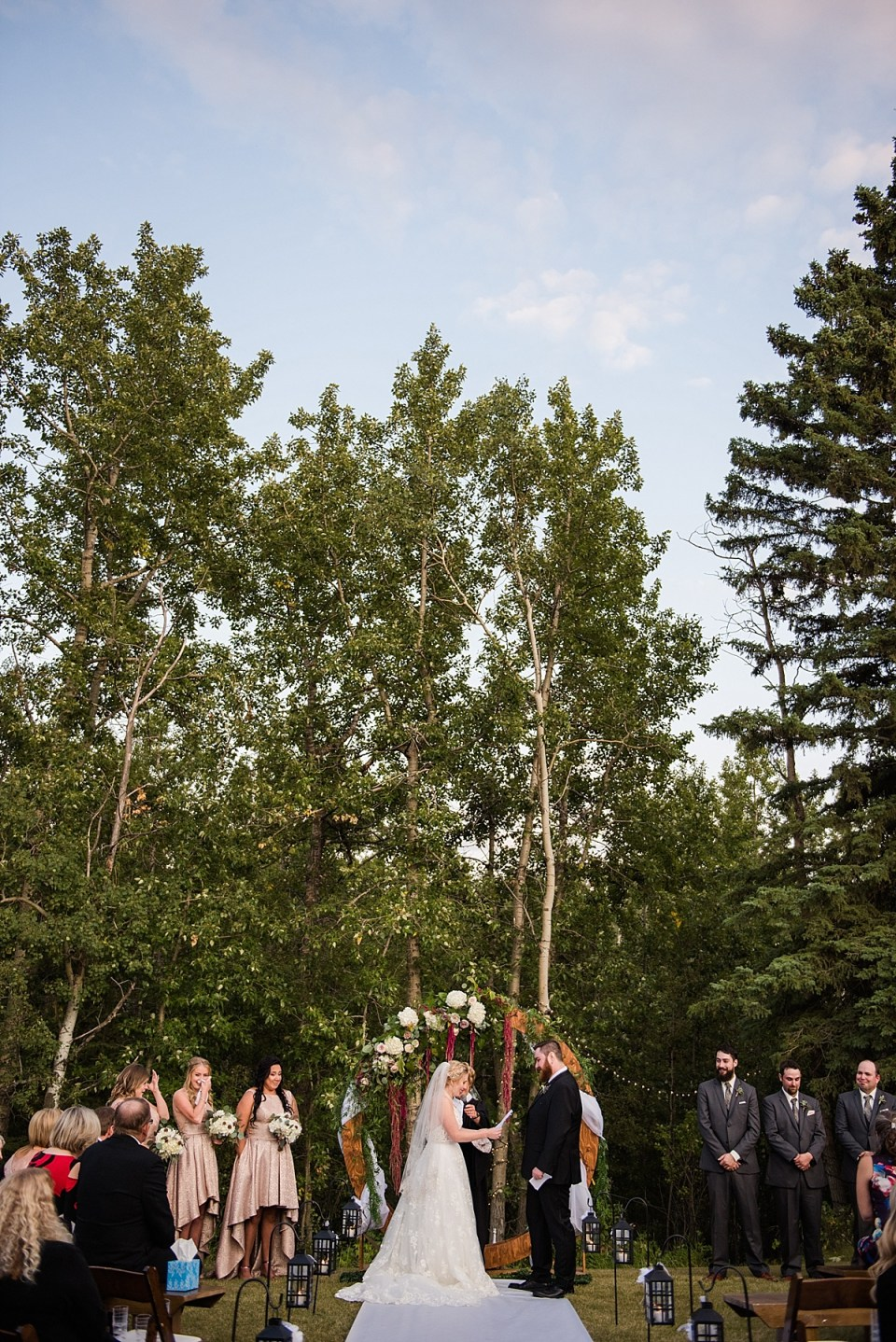 Romantic Outdoor Sunset Wedding | Red Deer Wedding Photographers | A Wedding Full of Florals