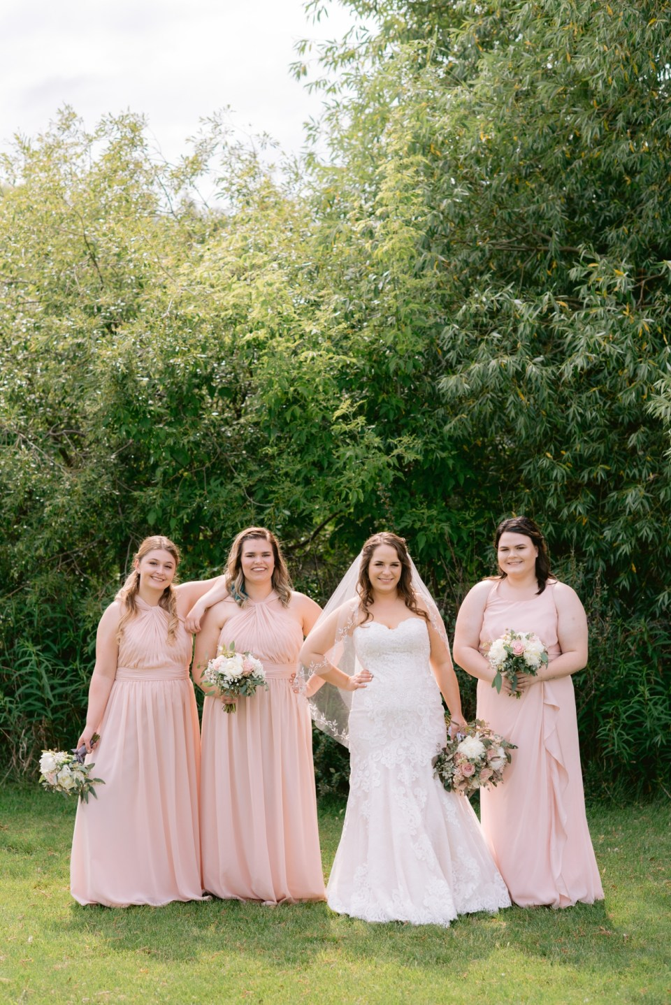 A blush and grey intimate wedding | The Big Red Barn | Lacombe, AB