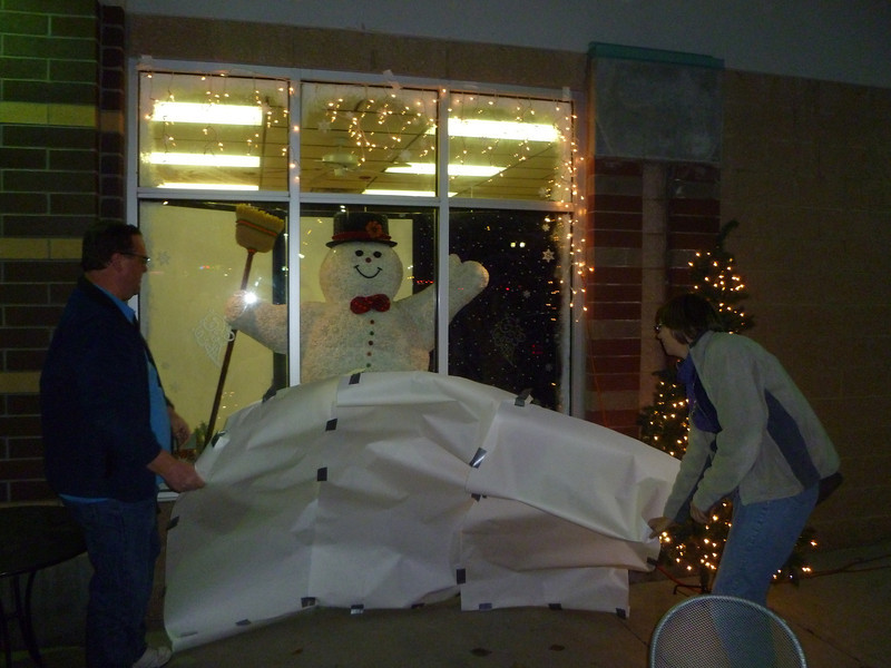 the unveiling of Frosty the Snowman