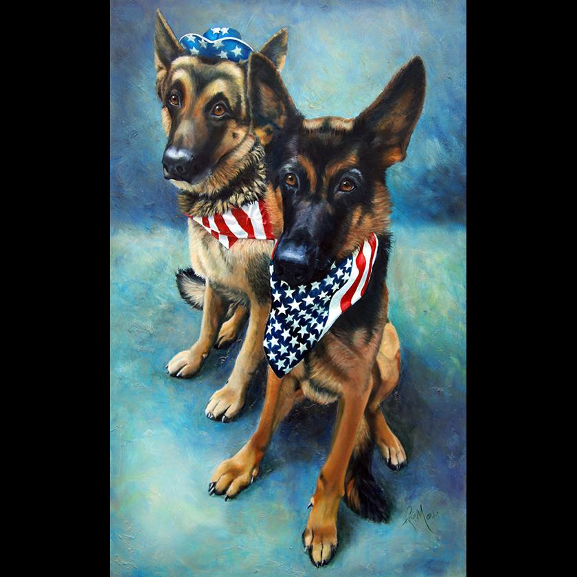 pastel-pet-portrait-by-rae-marie-oils-german shepherd- dog