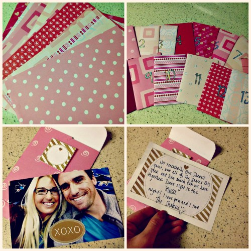 DIY Countdown to Valentine's Day - Valentine's Day project for Husband