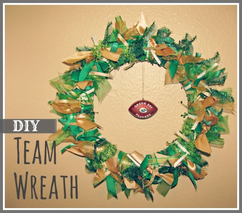 Green Bay Packers Wreath DIY NFL