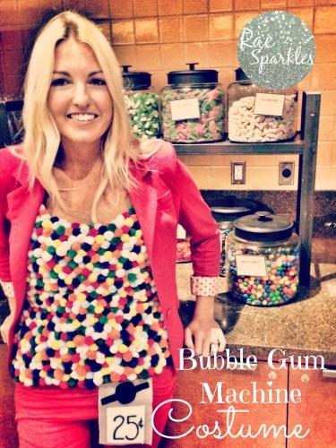DIY Bubble Gum Machine Costume