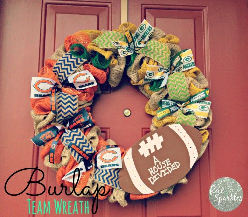 Burlap NFL Team Wreath - House Divided