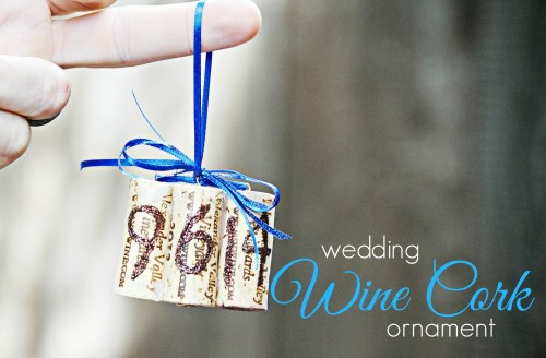DIY Wedding Wine Cork Ornament