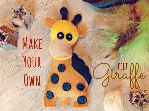 DIY Felt Giraffe // Easy Felt Project // Hand sew Giraffe