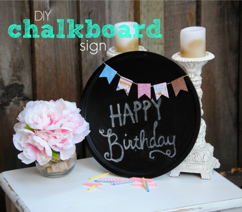 DIY Chalkboard Sign // Dollar Store Products // Dollar Store Crafts