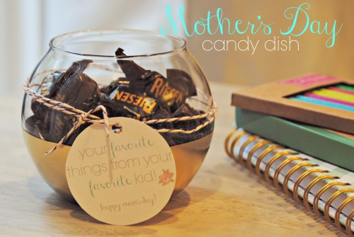 DIY Gold Dipped Candy Dish // Mother's Day Gift