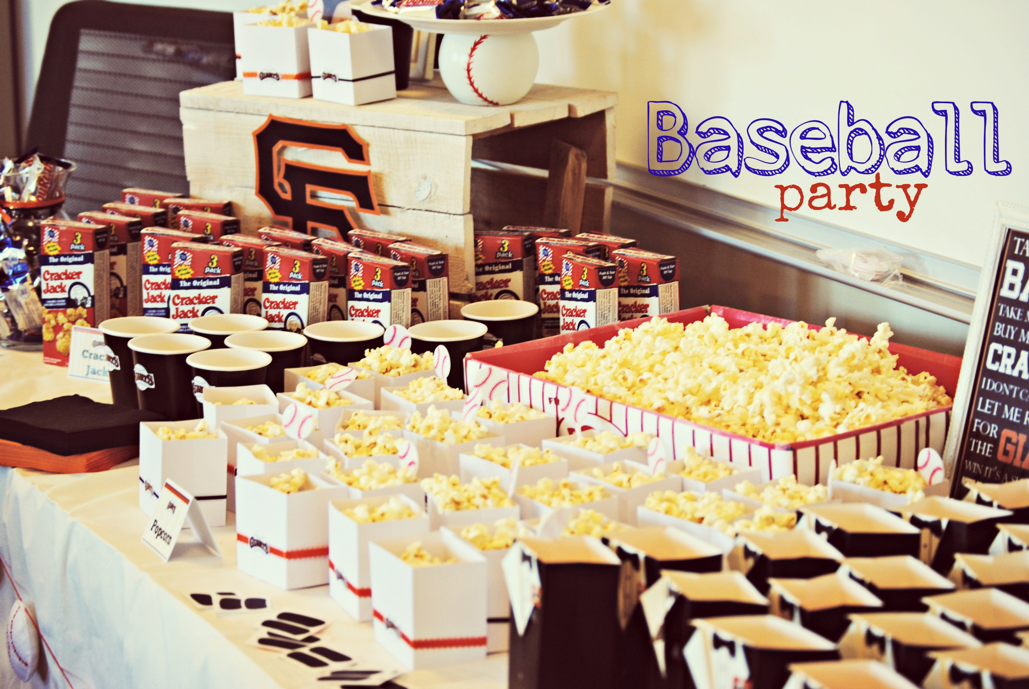 Baseball Themed Party San Francisco Giants Party