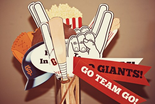Photo Booth Props // Baseball Party // Giants Party