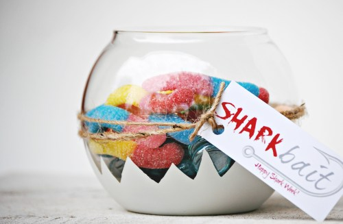 Shark Bait Candy Dish // Shark Party // Shark Treats