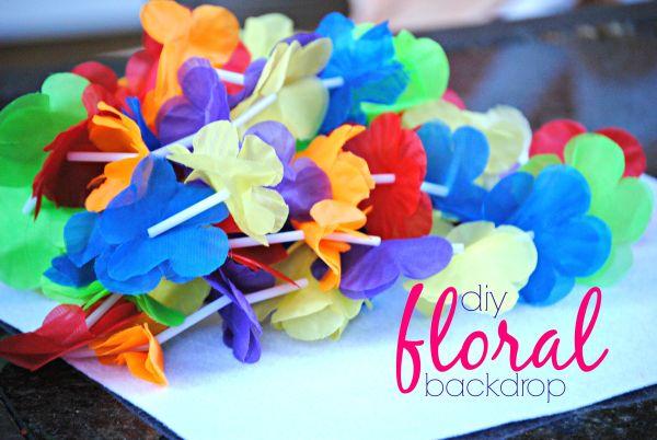 DIY Floral Backdrop Ingredients