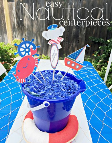 Easy Nautical Centerpieces