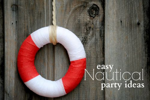 Easy Nautical Party Decoration Ideas  DIY Nautical Wreath