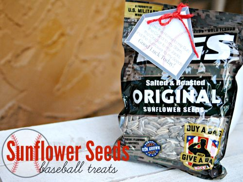 Sunflower Seeds Baseball Treat // Sunflower Seeds Free Printable