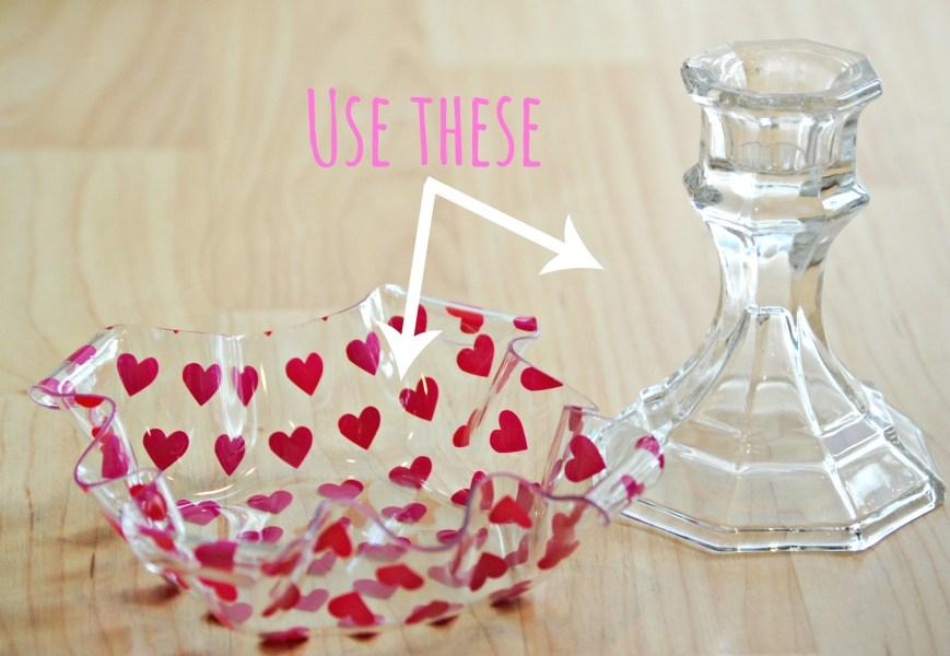 DIY Easy Dollar Store Valentine's Dish