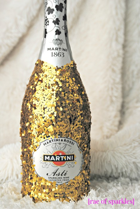 Gold Glitter Bottle