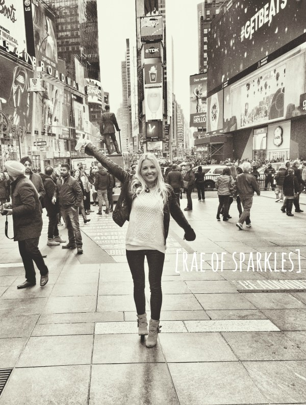 Rae of Sparkles Sparkle in Times Square