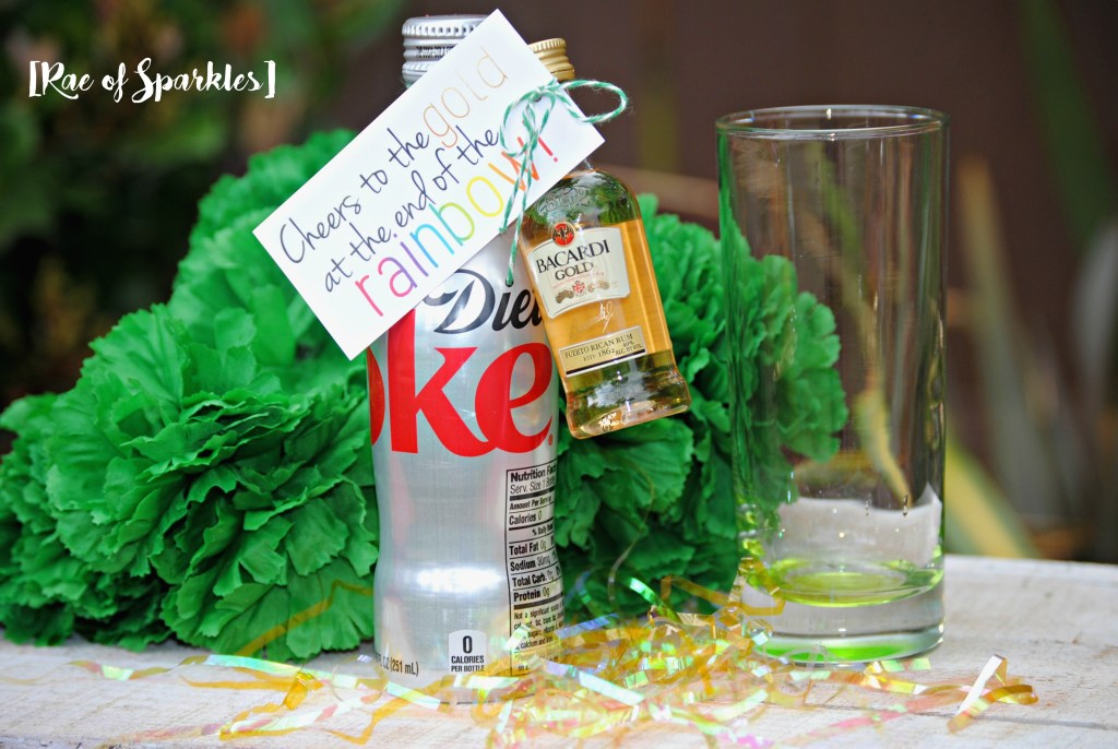 St Patrick's Day Treats for Adults - Cheers to the Gold at the End of the Rainbow! Rum & Coke