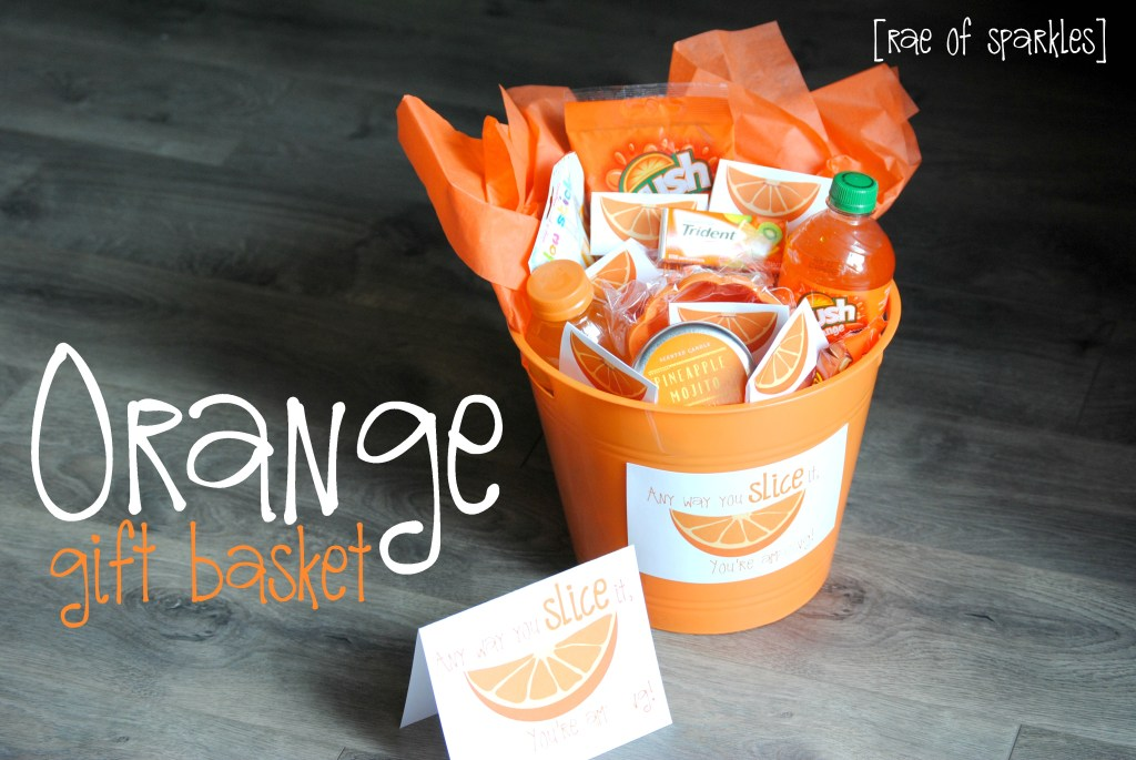Orange Gift Basket  Perfect for a congratulations gift!