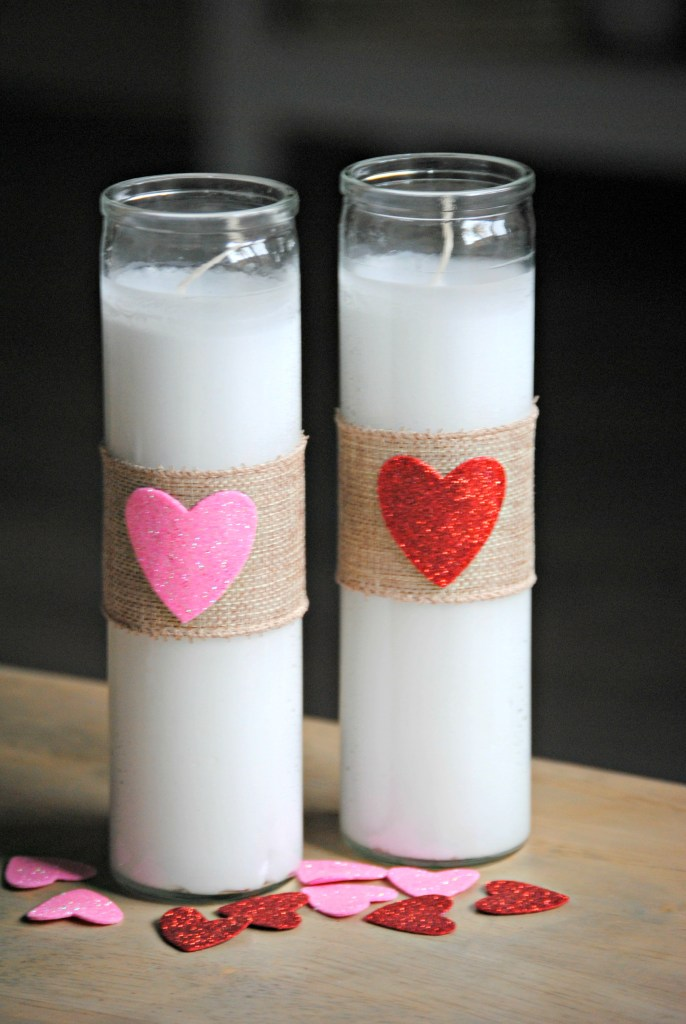 DIY Pillar Candles - Valentine's Day