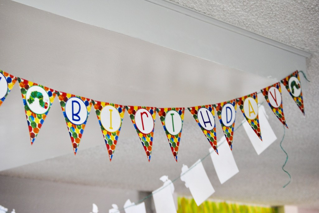 Hungry Caterpillar Happy Birthday Banner (1)