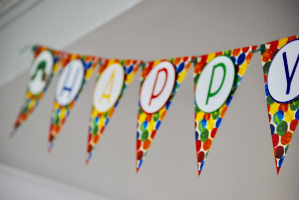 Hungry Caterpillar Happy Birthday Banner (2)