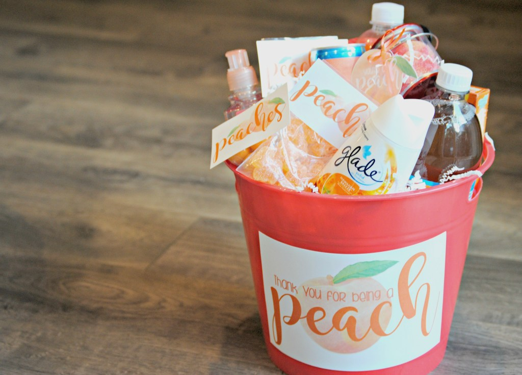Peach Gift Basket