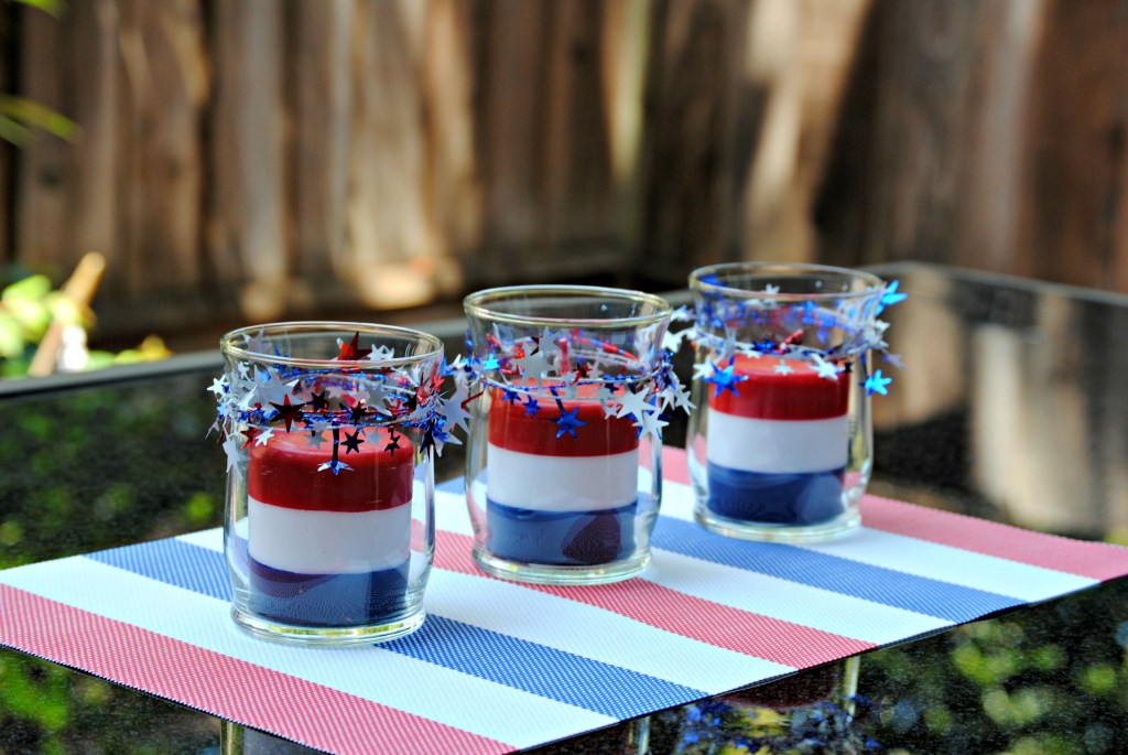 DIY Dollar Store Patriotic Candle Centerpiece - 4th of July Centerpiece Idea