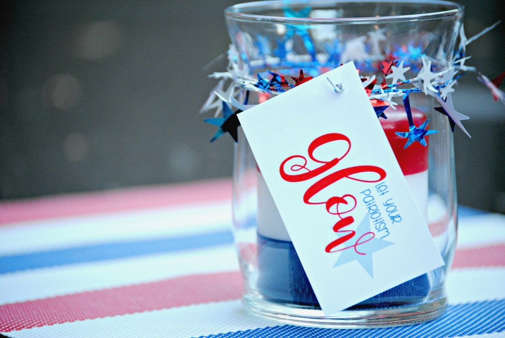 Patriotic Candle Gift