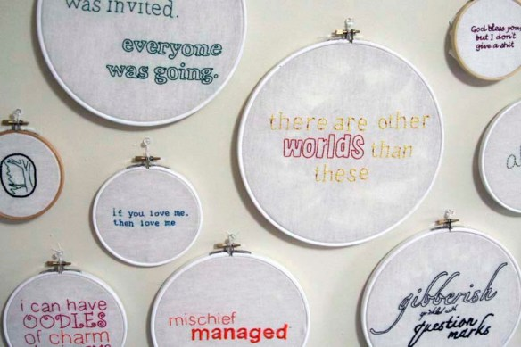 embroidery quotes on wall